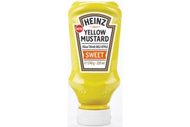 Heinz 220ml Yellow Mustard Sweet sinappi