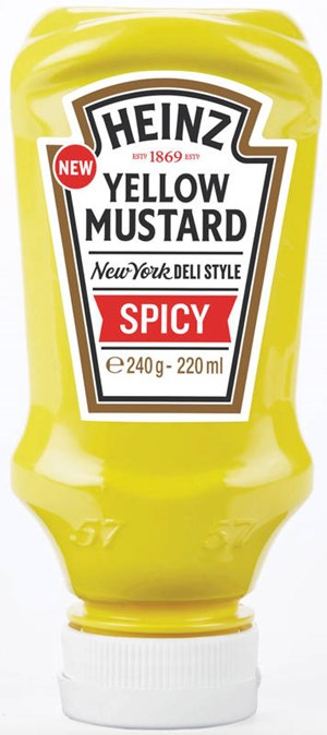 Heinz 220ml Yellow Mustard Spicy sinappi