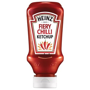 Heinz 220ml tomato ketchup fiery chilli