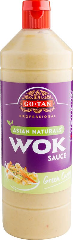 Go-Tan 1000ml Vihreä curry wok-kastike, Asian Naturals