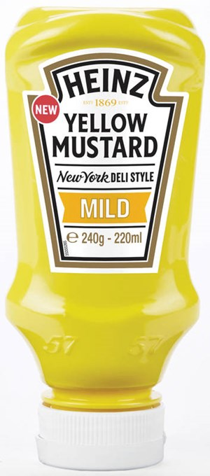 Heinz 220ml Yellow Mustard Mild sinappi